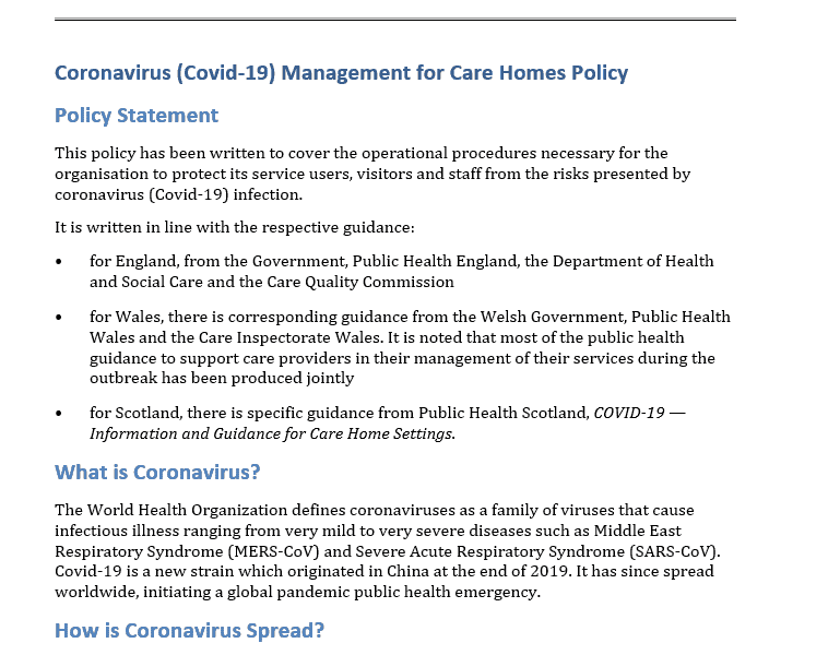 Sample Policy & Procedure
